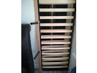 King-size leather bed frame ono
