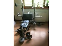 Weight Bench with lots of accessories