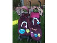 Cosatto double stroller pushchair
