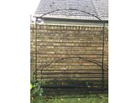 Garden trellis and arch set, iron. Solid construction, looks great.