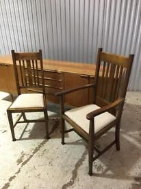 Set of 8 Arts & Crafts Dining Chairs