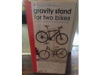Gravity stand for two bikes hardly used - Collection only