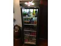 Smirnoff ice tall glass fronted fridge