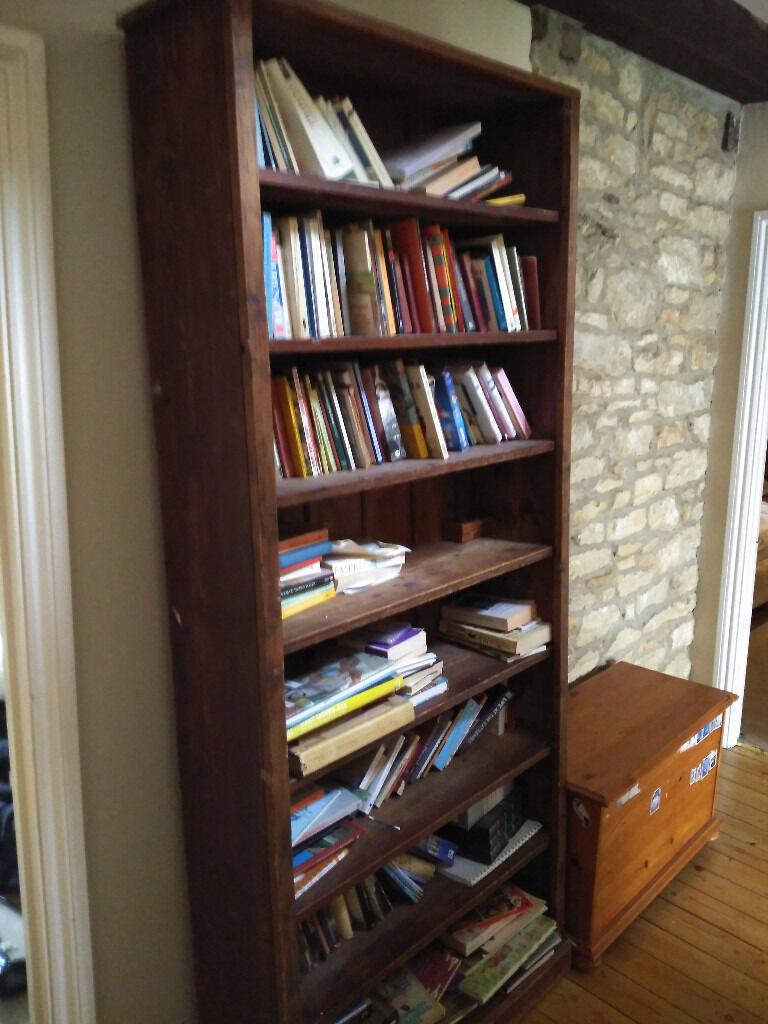 Solid Very Tall Bookcase Antique Pine Originally From Oxford College Eynsham