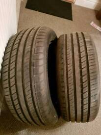 X2 235/55/18 nearly new tyres