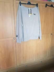 Men's grey everlast hoodie