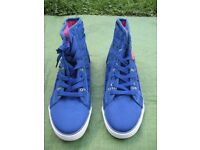Pair of Brand New Blue Padded Plimsoll Boots by Pastry - UK Size 6.5 to 7, Euro Size 39 to 40