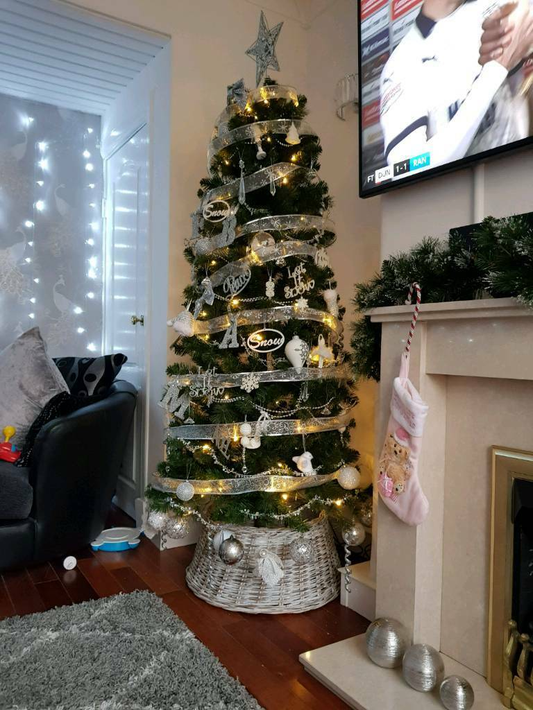 4a3576080d 6ft 6 inch b q pre lit chamonix xmas tree