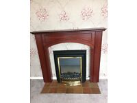 lovely mahogany fire surround, excellent condition