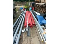 150mm Red Electric Ducting 3m lengths x 4