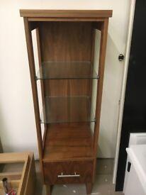 NEW ex-display walnut floor standing display unit