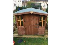 Kids Play House £40 Great Condition Buyer can also take the decking base