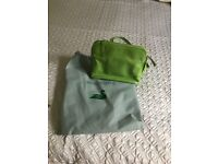 Abbotsbury Genuine Leather Shoulder Bag - green