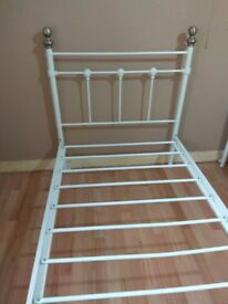 White Metal Bed Single Size