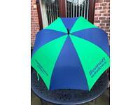 Green & Blue Golf Umbrella
