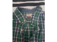 Next XL Casual green checked shirt