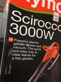 Flymo scirocco 3000w leaf blower/vacuum