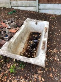 Cast Iron scrap metal bath, buyer to collect, horse trough, planter free