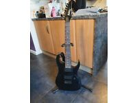 Ibanez Gio 7 string guitar and stand