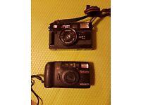Vintage Cameras - Minolta Riva 100AF & Halina MW35G