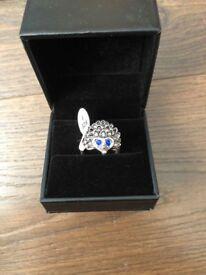 Hedgehog Cute Animal Ring, Retro Classic Baroque Style Design