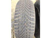 Continental Winter Tyres on VW Steel Wheels 205/55/16