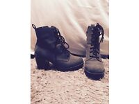 Boot heels size 5 lace ups