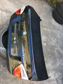 Bmw trunk and stop lights in Monaco blue color