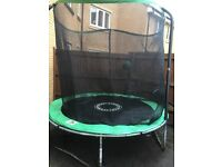 8 foot trampoline with enclosure and instructions