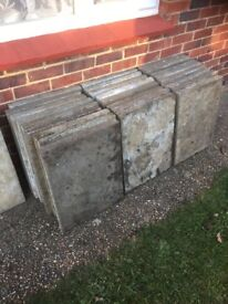 Paving slabs old but still in good condition , ready to be pick up. £1 each v.n.o.