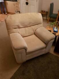 Cream Fabric Arm Chair