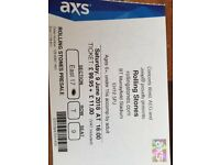 2x Rolling stones tickets