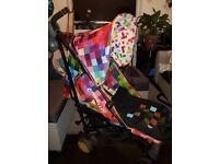 COSATTO supa pixelate stroller pushchair pram & footmuff