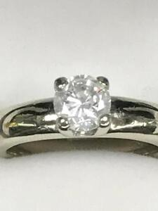 BAGUE EN PLATINE CERTI D'UN DIAMANTS ROND COULEUR H DE 1.02CT ÉVALUATION A 8800$ PAR GEMS