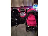 """great deal """"be safe"""" 6 part travel system very good condition"""