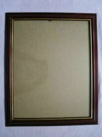 MAHOGANY AND GOLD PINE CREAM PICTURE FRAMES EACH