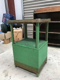 Vintage green bedside table