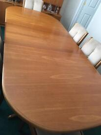 Solid Teak Extending Dining Table and Six Chairs REDUCED FURTHER!