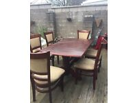 6 chair, dining table - good condition. £50