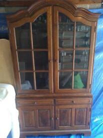 Dark oak dresser unit