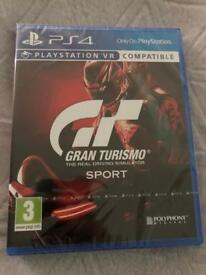 Gran turismo sport Ps4 game sealed brand new