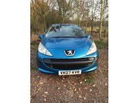 Peugeot 207, 1 female owner, non smoking, car used to get to and from work only.