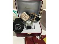 Cartier diamond santos XL watch