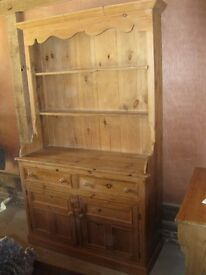BEAUTIFUL PINE DRESSER. Delivery possible. OLD OAK PEWS , PINE CHURCH BENCHES & TABLES ALSO FOR SALE