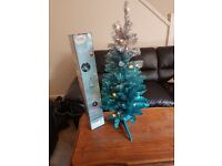 Blue and Silver Tinsel Tree