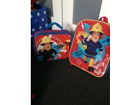 Fireman Sam bag & lunchbag