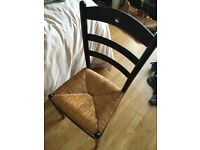 Free chair. Woven seat.