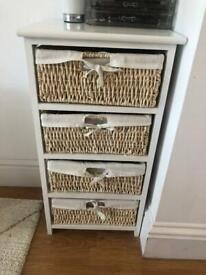 Bathroom/bedroom wicker basket drawers