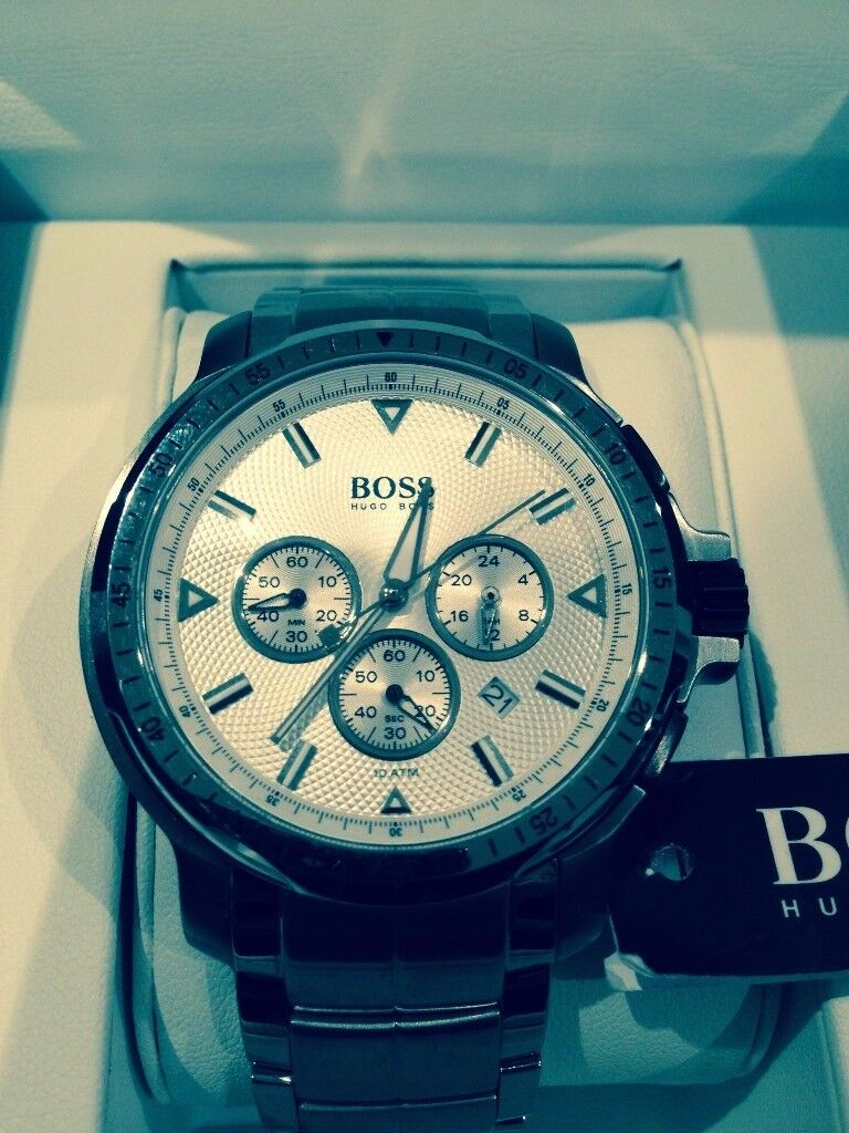 Hugo Boss Chronograph Silver Watch - Brand New, Unworn