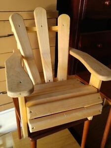 Oakville Pre-schoolers Muskoka Chair Childs Childrens Kids Seat SOLID Wood 1 only